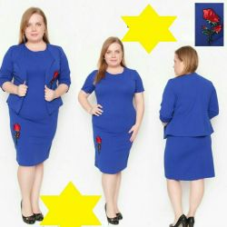 New suit Dress with jacket 52р