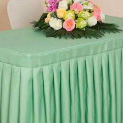 Δημοφιλή φούστα με μέντα για γάμο για τραπέζι γάμου