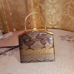 Snakeskin handbag. Spain.