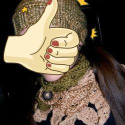 Handmade Новий комплект шапка і шарф снуд