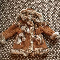 Çocuk koyun derisi ceket