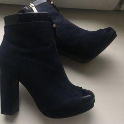 Suede μπότες μπλε! URGENT