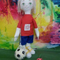 Handmade Doll Fotbal Player