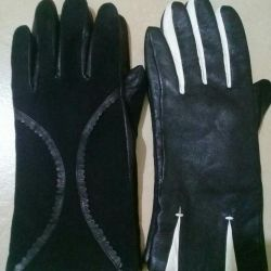Kadınlar için deri eldivenler