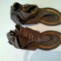 38 sandalet, kahverengi