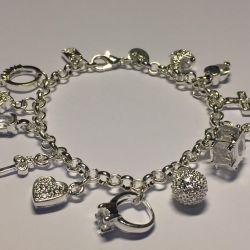 Новые посеребренные браслеты