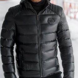 Jachetă din piele de iarnă pentru bărbați