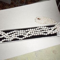 Colier (perla, hialita), pandantiv de argint