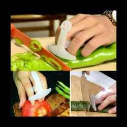 Finger guard for cutting vegetables