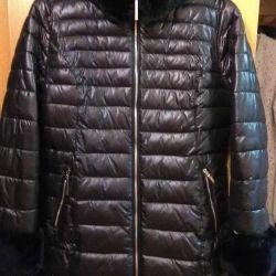Natural fur down jacket