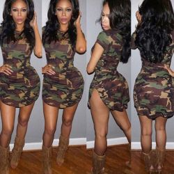 Dress new camouflage size S