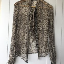 Shirt blouse silk