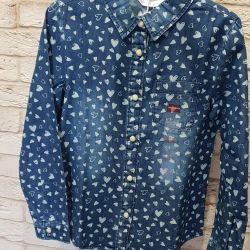 Джинсовая рубашка (новая)