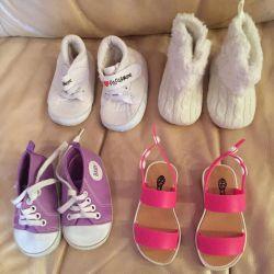 Дитячі пінетки, сандалі до року