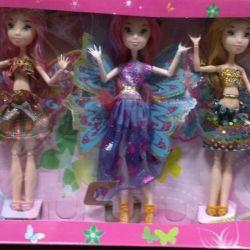 Set of 5 Winx dolls new