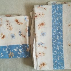 Duvet cover and 2 used pillowcases, poplin