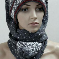 Национальная эстонская шапка-шарф