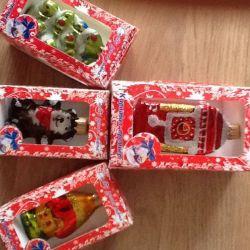 New Year's toys 4 pcs.