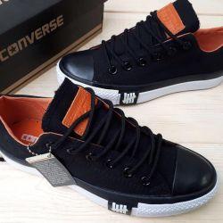 Παπούτσια συνομιλίας μαύρο νέο!