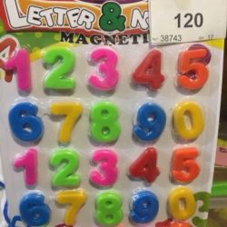 Magnetic letters and numbers are different