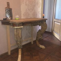 Vintage carved mahogany table