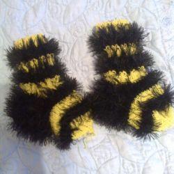 bebek çorapları El örgüsü