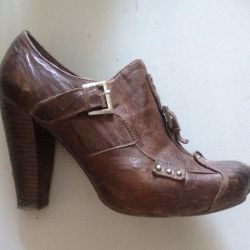 Ankle boots Natural leather