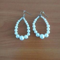 Earrings from pearls