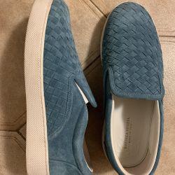 BOTTEGA VENETA erkekler için slip-on çorap orijinal. 42 beden