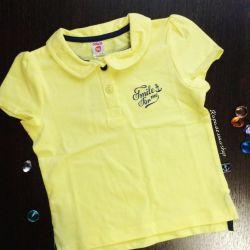 Polo T-shirt new for girl 104 cm