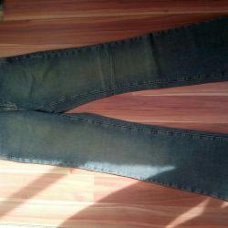 Kot pantolon yeşil ve koyu pembe