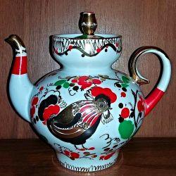 Porselen çaydanlık Horoz LFZ SSCB 1. Sınıf