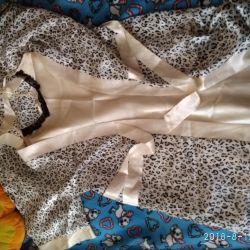Nightgown and bathrobe set