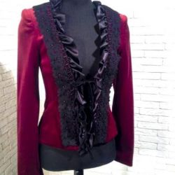 New designer jacket velvet silk r. 44-46