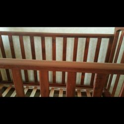 Crib with mattress (coconut)