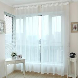 Set of curtains voile white 350 * 270