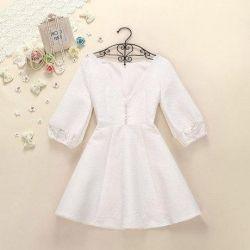 ‼ New white dress 44-46 sleeve 3/4
