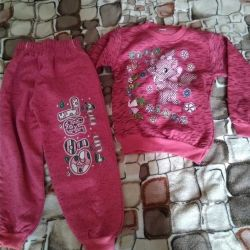 Suits in perfect condition, pink on fleece