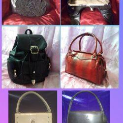Çantalar, cüzdanlar. Yeni ve kullanılmış.