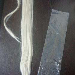 Blond luminos. Coada 60cm rezistent la căldură. nou