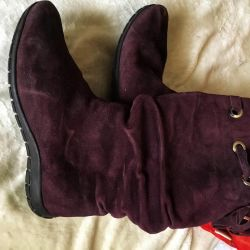 Winter boots, natura suede