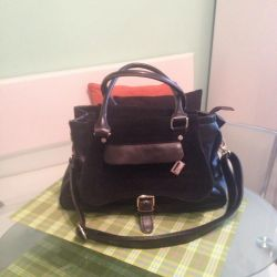 Bag Westfalika, genuine leather + suede 👜👍 new