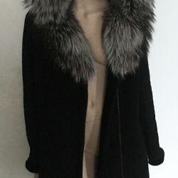 Gümüş tilki ile koyun derisi ceket r 52 başlık