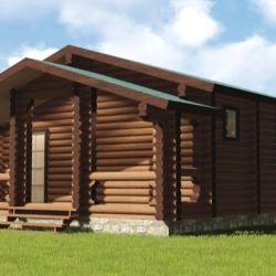 Log houses, houses