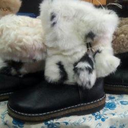 High fur boots new 31,27,28,29r, sheepskin