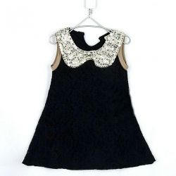 Openwork dress with a stylish collar (new)