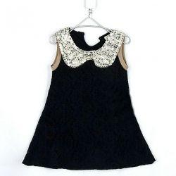 Ανοιχτό φόρεμα με κομψό γιακά (νέο)