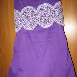 Yeni mor elbise
