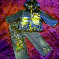 джинсовый костюмчик