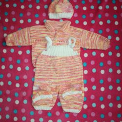 New hand-knitted suit, r.68-74